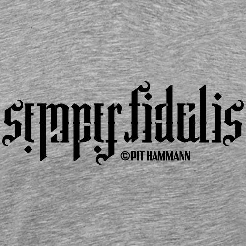 Ambigramm Semper fidelis 01 Pit Hammann - Männer Premium T-Shirt