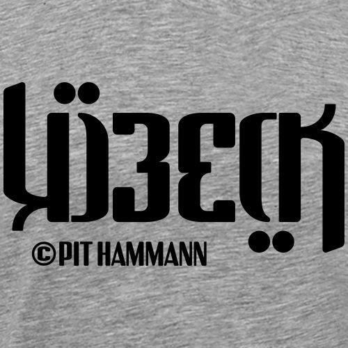 Ambigramm Lübeck 01 Pit Hammann - Männer Premium T-Shirt