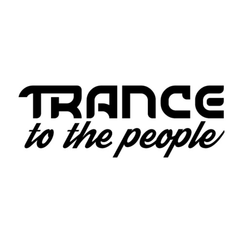 Trance to the People Sort Logo - Herre premium T-shirt