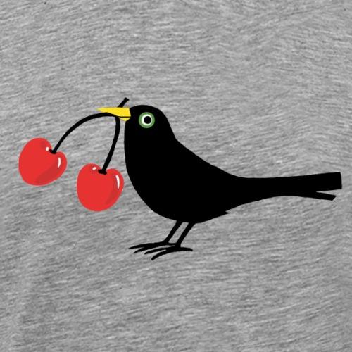 Vogel - Kirschen - Männer Premium T-Shirt