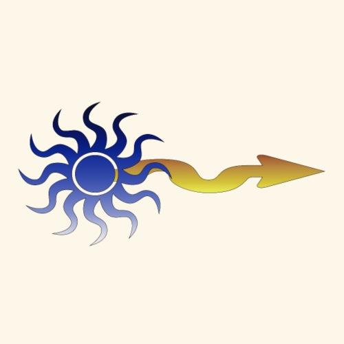 The sun on the arrow - Maglietta Premium da uomo
