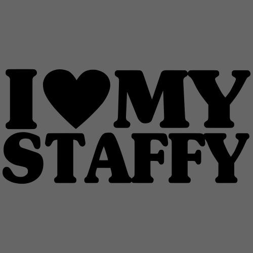 iheartmystaffy - Miesten premium t-paita