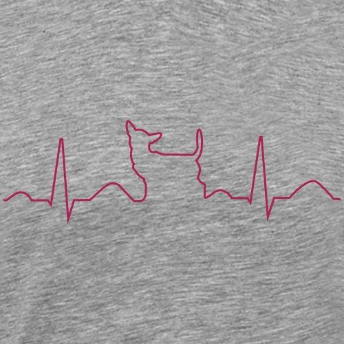 Chihuahua EKG - Männer Premium T-Shirt
