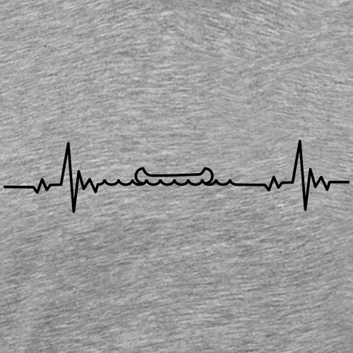 Kanu Heartbeat Ich liebe Kanufahren - Männer Premium T-Shirt
