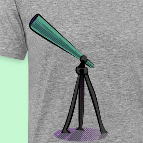 diseño para parejas telescopio y estrellas - Camiseta premium hombre