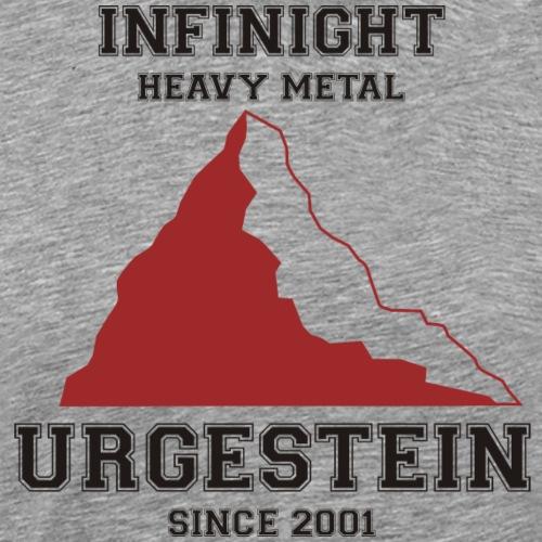 IN Urgestein Gipfel dunkel - Männer Premium T-Shirt