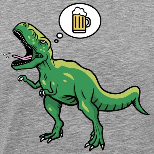 Bier Saurus // Beer Dino - Männer Premium T-Shirt