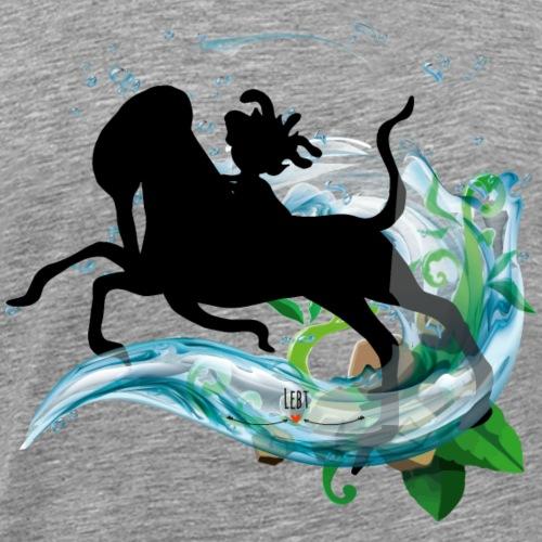 Energiewesen Egoligo mit Udus - Männer Premium T-Shirt