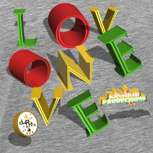 one love Kansidah 3D design - Männer Premium T-Shirt