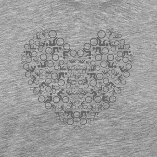 T-SHIRT LOVE MY BIKE - Mannen Premium T-shirt