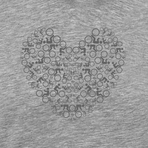 T-SHIRT LOVE MY BIKE - Mannen Premium T-shirt