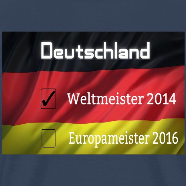 Deutschland Europameistser 2016 Weltmeister Flagge