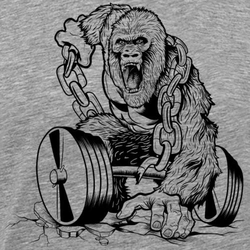 Gym-Gorilla - Männer Premium T-Shirt