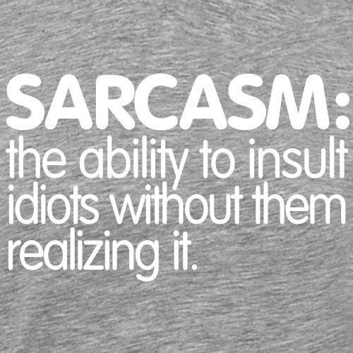 sarcasm curves - Premium-T-shirt herr