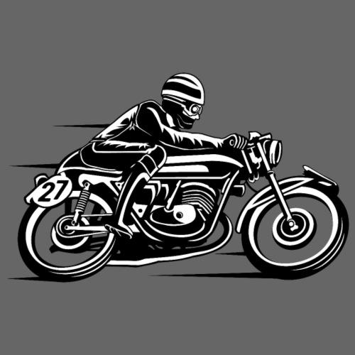 Cafe Racer Motorrad 03_schwarz weiß - Männer Premium T-Shirt