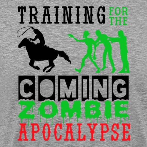 Training Zombie Apocalypse Horse Riding Cowboys - Männer Premium T-Shirt