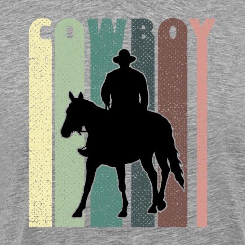 Cowboy Rodeo Horse Vintage Gift - Männer Premium T-Shirt