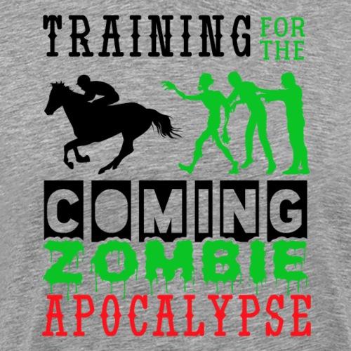 Training Zombie Apocalypse Horse Ridings - Männer Premium T-Shirt