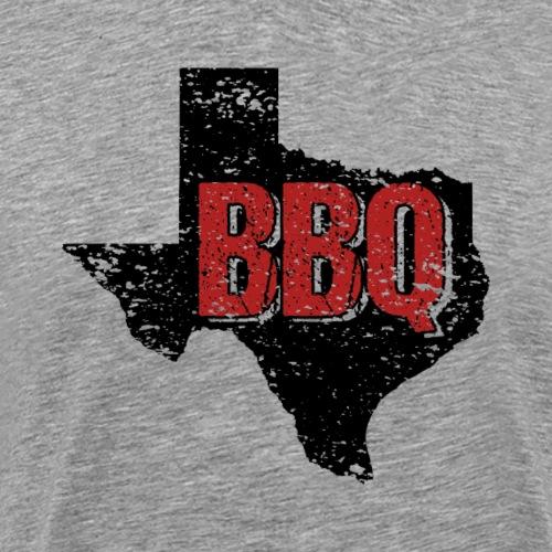 Texas BBQ Barbeque State Distressed - Männer Premium T-Shirt