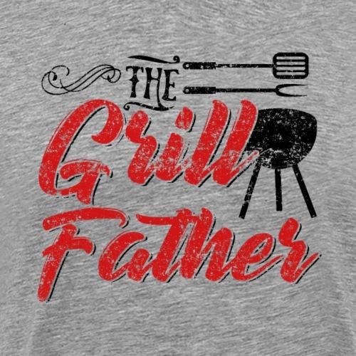 The Grillfather Godfather Barbeque BBQ - Männer Premium T-Shirt