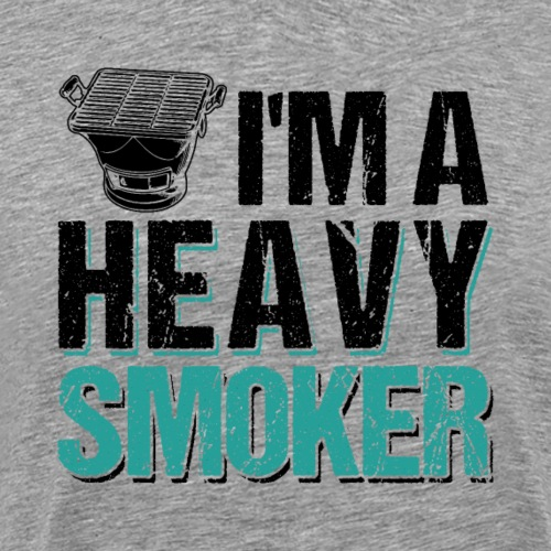 I'm A Heavy Smoker BBQ Barbeque - Männer Premium T-Shirt