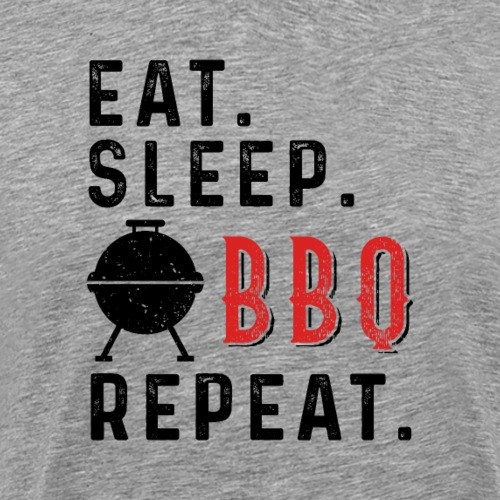 Eat Sleep BBQ Repeat Barbeque Gift - Männer Premium T-Shirt