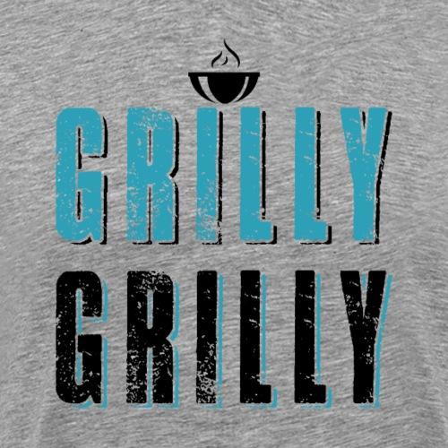 Funny Grill BBQ Barbeque - Männer Premium T-Shirt