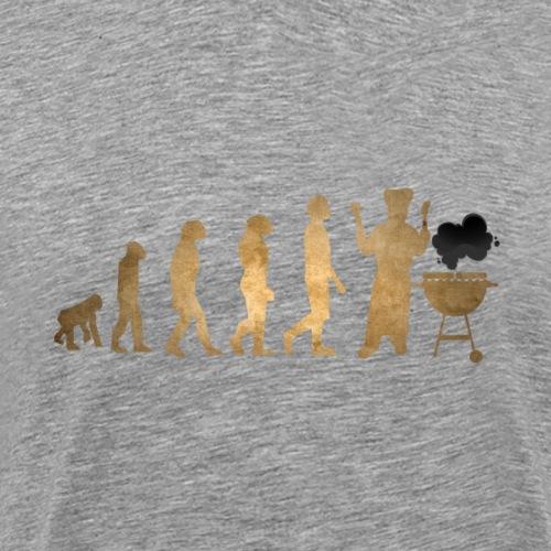 Evolution Of Grilling Barbque BBQ Gold Edition - Männer Premium T-Shirt