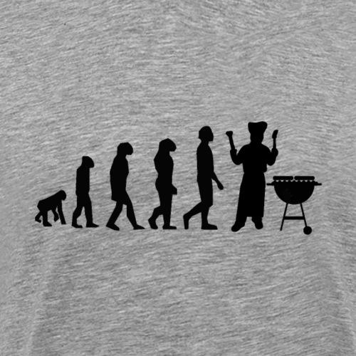 Evolution Of Grilling Barbque BBQ - Männer Premium T-Shirt