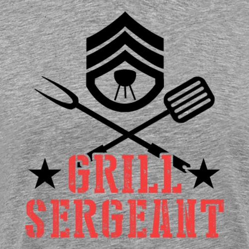 Grill Sergeant Barbeque Fan Lover - Männer Premium T-Shirt