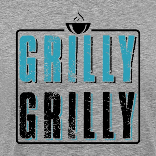 Grilly Grilly BBQ Barbeque - Männer Premium T-Shirt