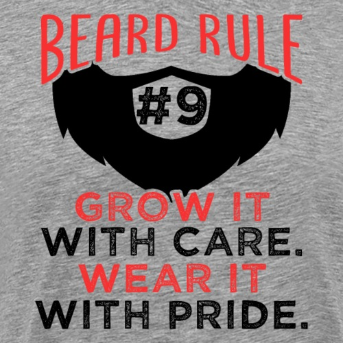 Beard Rule #9 - Männer Premium T-Shirt