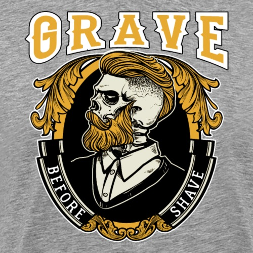 Grave Before Shave Bearded Vintage - Männer Premium T-Shirt