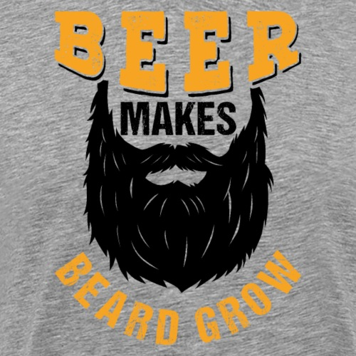 Beer Makes Beard Grow Funny Gift - Männer Premium T-Shirt