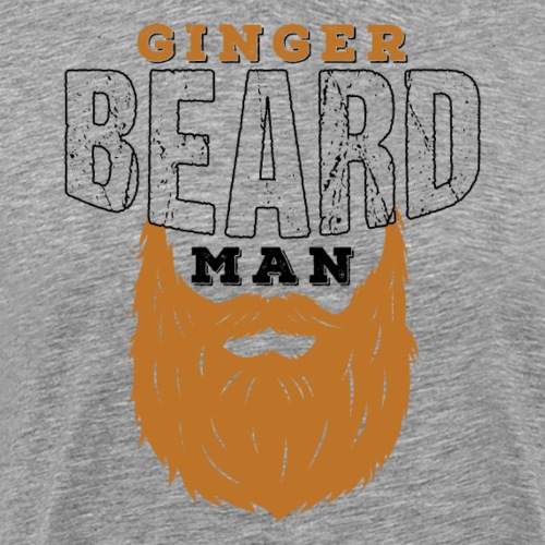 Beard Ginger Beard Man Redhead Gifts For Men - Männer Premium T-Shirt