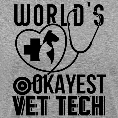 World's Okayest Vet Tech - Männer Premium T-Shirt