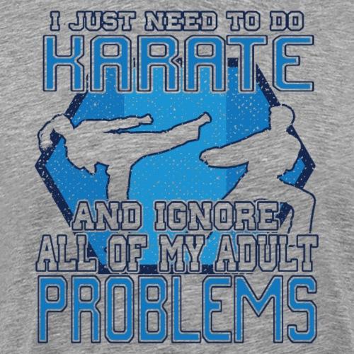 Karate Fighter Martial Arts Sports Gift - Männer Premium T-Shirt