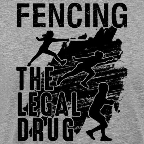 Fencing Fencer Athlete Fan Lover Sport Gift - Männer Premium T-Shirt