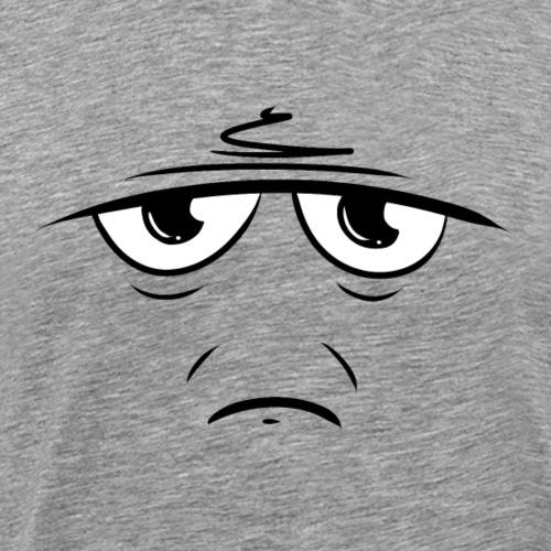 Visage blasé / fatigué - dessin drôle humoristique - T-shirt Premium Homme