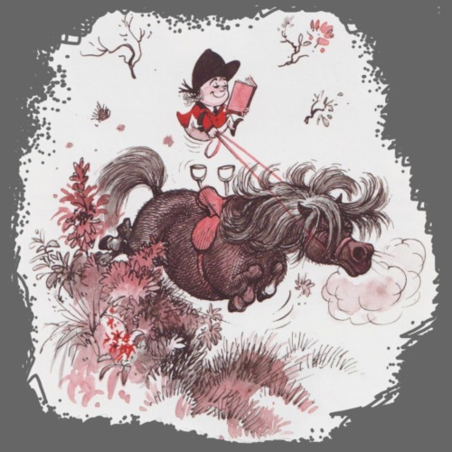 Thelwell - Pony outside in nature - Men's Premium T-Shirt