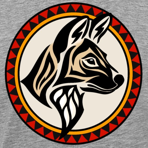 Painted Wolf Emblem - Men's Premium T-Shirt