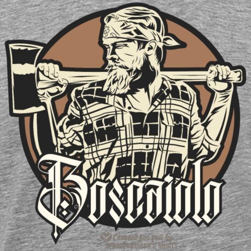 Holzfäller Design Boscaiolo Mann mit Axt und Bart - Männer Premium T-Shirt