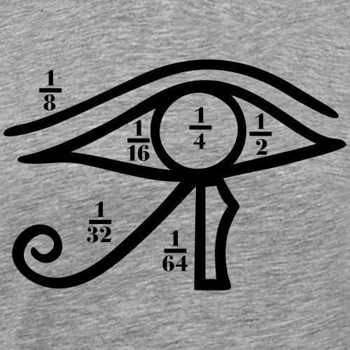 Auge des Horus, Heqat, Bruchzahlen, Ägypten - Männer Premium T-Shirt