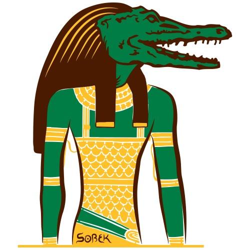 Ägyptischer Gott: Sobek - Männer Premium T-Shirt