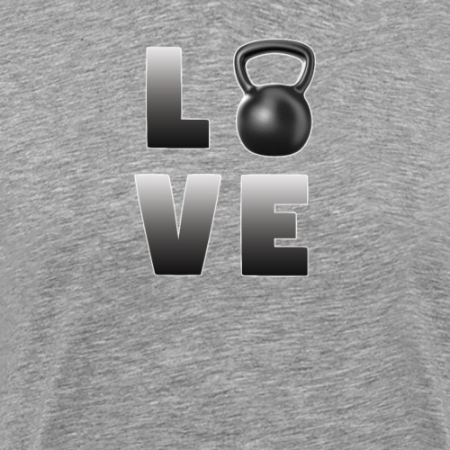 Kettlebell Funny Design - Love - Men's Premium T-Shirt