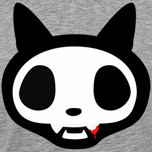 lustiger Katzenschädel cute Comic mit Blut