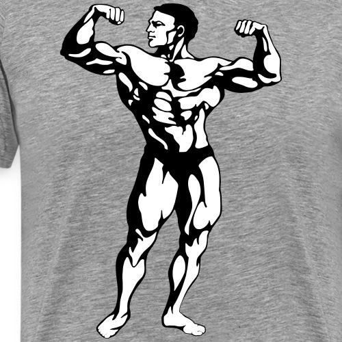 Muskeltier Bodybuilder - Männer Premium T-Shirt