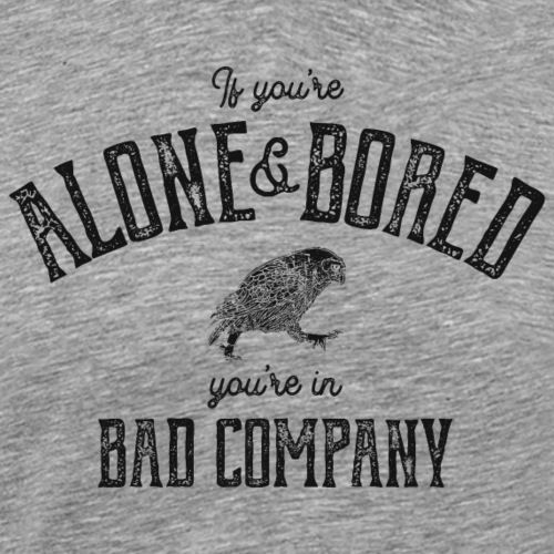 Alone & Bored - Premium-T-shirt herr