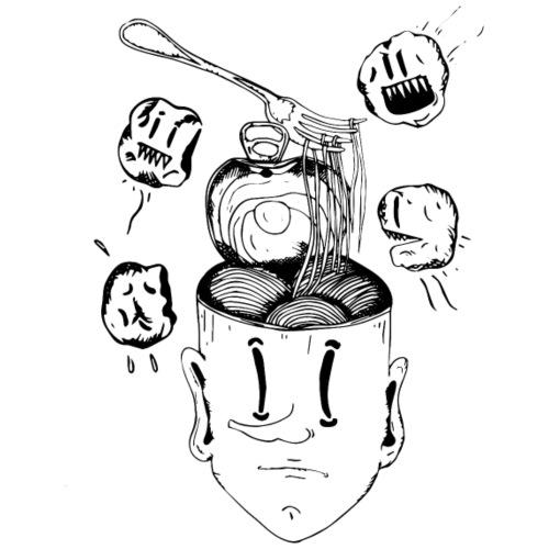 Spaghetti head - Maglietta Premium da uomo