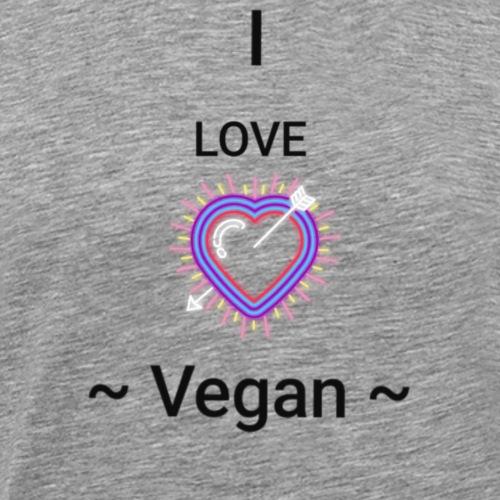 Love + Vegan + Geschenk + Essen + Trend - Männer Premium T-Shirt